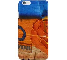 Collage Nr. 6 : orange, blue and wood iPhone Case/Skin