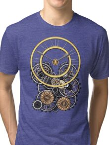 Stylish Vintage Steampunk Timepiece Tri-blend T-Shirt