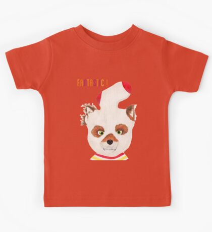 Fantastic Mr Fox ASH fox print Kids Tee