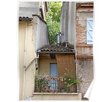 The tiniest house in town - two tiny windows above the door Poster