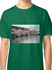 Boats in the Lower Harbour, Whitby Classic T-Shirt