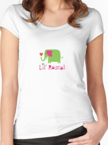Elephant Lil Rascal green Women's Fitted Scoop T-Shirt