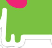 Elephant Lil Rascal green Sticker