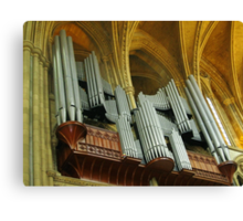 Organ Pipes, Truro Cathedral Canvas Print