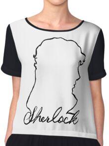 sherlock name and silhouette  Chiffon Top
