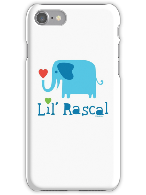 Elephant Lil Rascal blue by Andi Bird