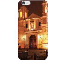 Santuario de Nuestra Senora de la Soledad at Night, Lima Peru iPhone Case/Skin