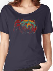 Funny Bear Wave Hand Women's Relaxed Fit T-Shirt