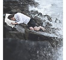 Sleeping On Stones Photographic Print
