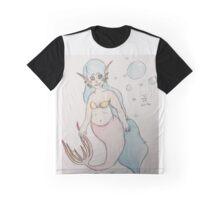 Curvy Mermaid  Graphic T-Shirt