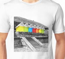 WHITBY BEACH HUTS Unisex T-Shirt
