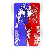 lee sin muay thai fighter thailand martial art sport logo badge sticker shirt Poster