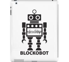 BLOCKOBOT (black) iPad Case/Skin