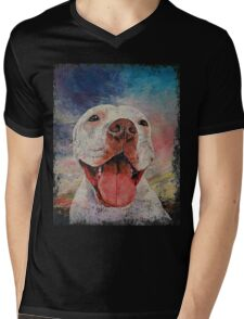 Pitbull Mens V-Neck T-Shirt