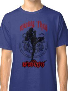 muay thai kick thailand martial art sport logo badge sticker shirt Classic T-Shirt
