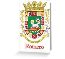Romero Shield of Puerto Rico Greeting Card