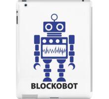 BLOCKOBOT (blue) iPad Case/Skin