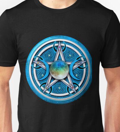 Blue Celtic Pagan Pentacle Unisex T-Shirt