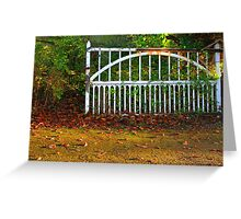 The Gate (Lomo Russian toy camera lens) Greeting Card