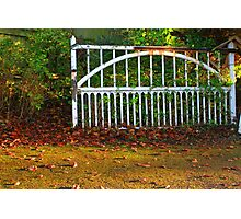 The Gate (Lomo Russian toy camera lens) Photographic Print