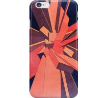 Vintage Orange Rectangles iPhone Case/Skin