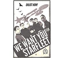 WE WANT YOU FOR STARFLEET Photographic Print
