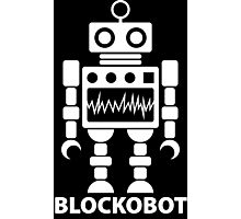 BLOCKOBOT (white) Photographic Print