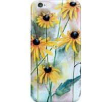 Blackeyed Susan Watercolor iPhone Case/Skin