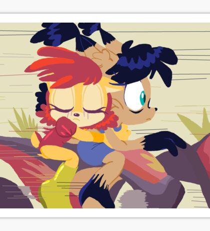 Sonic Sally and Nicole Sticker