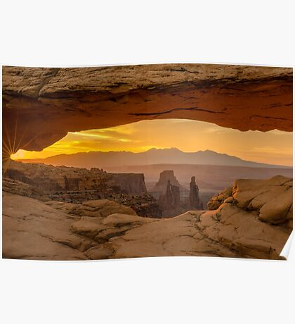 Sunrise in Canyonlands National Park, Utah. Poster