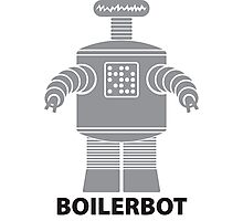BOILERBOT (grey) Photographic Print