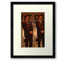 AXA CEO-Henri de Castries and AXA Asia Life CEO-Michael S. Bishop  Framed Print