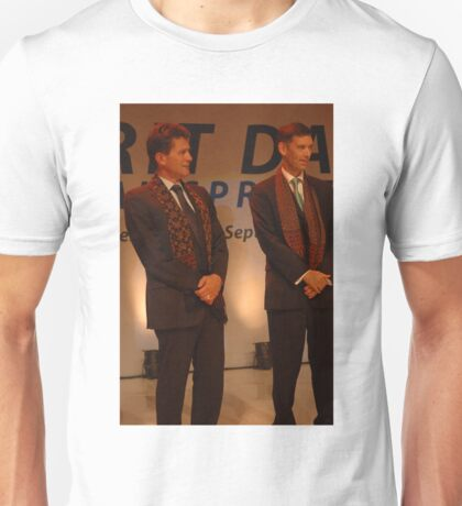 AXA CEO-Henri de Castries and AXA Asia Life CEO-Michael S. Bishop  Unisex T-Shirt