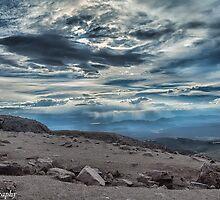 Storm on Pike's Peak  by John  Kapusta