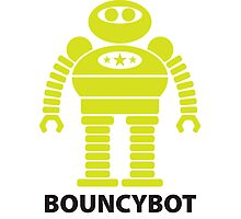 BOUNCYBOT (green) Photographic Print