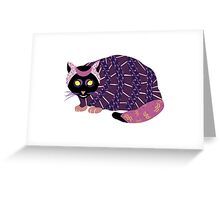 Abstract Cat [BLACK] Greeting Card
