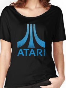 Atari Classic  Blue Vintage  Women's Relaxed Fit T-Shirt
