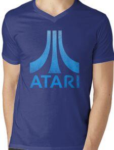 Atari Classic  Blue Vintage  Mens V-Neck T-Shirt