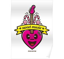 Sweet Music Vector Poster