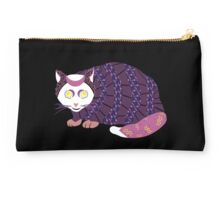 Abstract Cat [WHITE] Studio Pouch