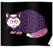 Abstract Cat [WHITE] Poster