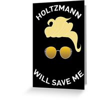 Ghostbusters: Knight in Shining Goggles (White Text) Greeting Card