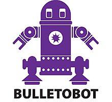 BULLETOBOT (purple) Photographic Print