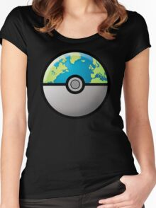 Earth ball Women's Fitted Scoop T-Shirt