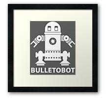 BULLETOBOT (white) Framed Print
