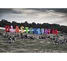 Happy 40th Birthday Glastonbury Photographic Print