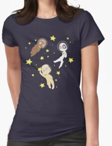 Space Buns Womens Fitted T-Shirt