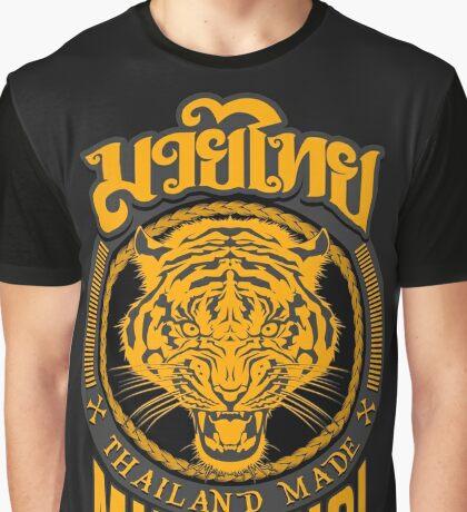tiger sagat muay thai  thailand martial art logo Graphic T-Shirt