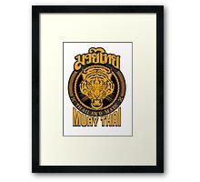 tiger sagat muay thai  thailand martial art logo Framed Print