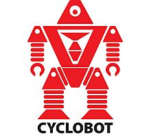 CYCLOBOT (red) Photographic Print